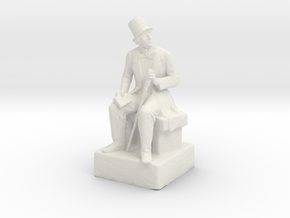 H.C. Andersen sculpture in White Natural Versatile Plastic
