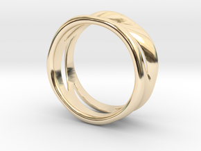 Wave Ring in 14k Gold Plated Brass: 7 / 54