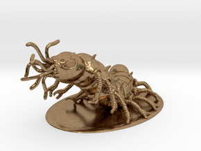 Carrion Crawler Miniature in Natural Brass: 1:60.96