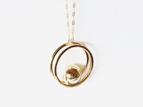 Minimalist Necklace - Yoga Pendant in Polished Bronze
