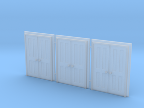 Door Type 9 - 660D X 2000 X 3 in Smooth Fine Detail Plastic: 1:148