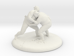 Sumo Oomph - Table Top Sculpture in White Natural Versatile Plastic