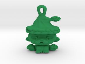 Christmas Puppy Pendant in Green Processed Versatile Plastic