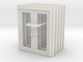 Door Type 13 - 760D X 2000 X 5 in White Natural Versatile Plastic: 1:76