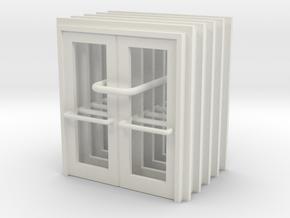 Door Type 14 - 810D X 2000 X 5 - Various Scales in White Natural Versatile Plastic: 1:87