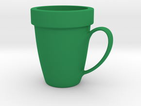 Coffee mug #9 - Super Mario warp pipe in Green Processed Versatile Plastic