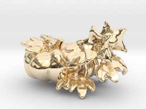 Fairytale Pumpkin Vine Studs in 14K Yellow Gold