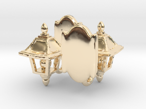 Lamp Sconce Studs in 14K Yellow Gold