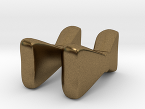 Itty Bitty Bow Studs in Natural Bronze