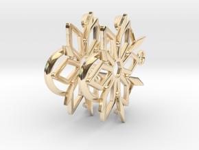 Dancing Shards Earrings in 14K Yellow Gold