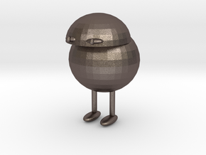 The Little Fella in Polished Bronzed Silver Steel