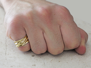 Tidal Ring in 18k Gold Plated Brass: 7 / 54