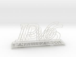IPv6 Charge Station - Medium in White Natural Versatile Plastic