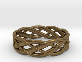 ring Double Braid in Raw Bronze: 6.5 / 52.75
