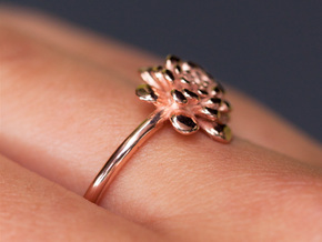 Chrysanthemum Flower Ring in 14k Rose Gold Plated Brass: 9 / 59