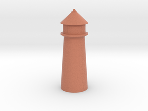 Lighthouse Pastel Dark Red in Full Color Sandstone