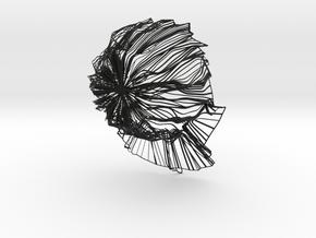 Unisex Abstract Hat in Black Natural Versatile Plastic: Medium