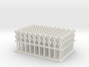 Stanchions - set of 100 - Zscale in White Strong & Flexible