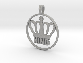 KING Crown Symbol Jewelry necklace in Aluminum
