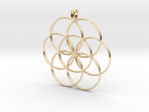 SEED OF LIFE Sacred Geometry Symbol Necklace in 14K Yellow Gold