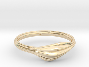 Wave in 14k Gold Plated Brass