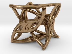 Curlicue 6-Sided Dice in Raw Brass