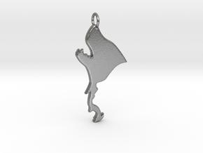 Werewolf Pendant in Raw Silver
