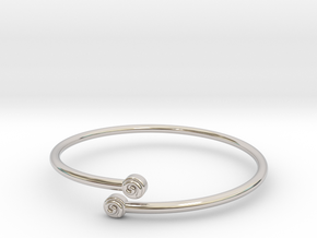 ByPassBracelet Spiral 3mm Sm 10.9.16 in Rhodium Plated Brass: Small