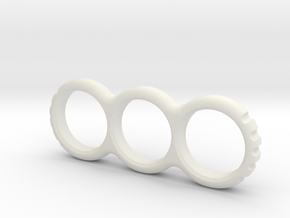 Hand EDC/Fidget Spinner Mk.II 80mm  in White Natural Versatile Plastic
