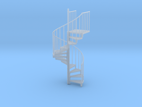 1:48 Industrial Spiral Staircase in Frosted Ultra Detail