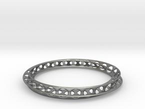 Mobius Bracelet in Natural Silver