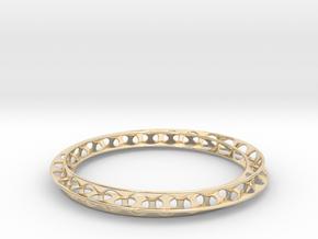 Mobius Bracelet in 14k Gold Plated Brass