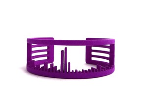 Mass Spectrum Bracelet in Purple Strong & Flexible Polished: Small