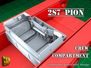 2S7 PION Crew Compartment (1:35) in Smooth Fine Detail Plastic
