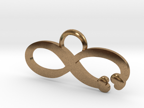 Love is Infinite in Natural Brass: Large