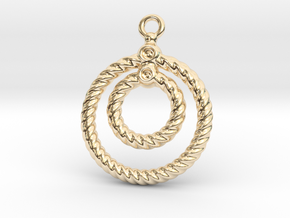 Corrugated Earring in 14K Yellow Gold