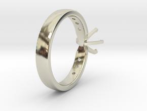 1ct Custom Engagement Ring in 14k White Gold