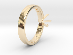 1ct Custom Engagement Ring in 14k Gold Plated Brass