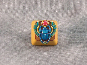 Scarab Cherry MX Keycap in Smooth Fine Detail Plastic