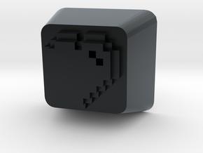 8 Bit Heart Cherry MX Keycap in Black Hi-Def Acrylate