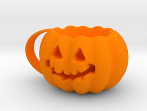 Finished Pumpkin Mug in Orange Processed Versatile Plastic