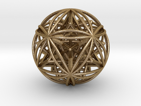 Icosasphere w/ Nested SuperStar  in Polished Gold Steel