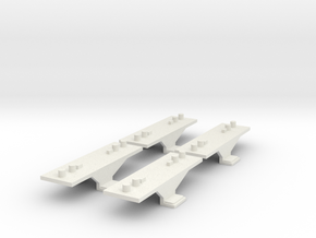 Container Adaptor for Roco/Fleischmann N scale wag in White Natural Versatile Plastic