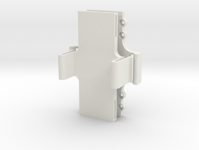 LIPO Battery Quick release Holder in White Natural Versatile Plastic