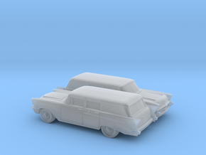 1/160 2X 1957 Chevrolet One Fifty Station Wagon in Frosted Ultra Detail