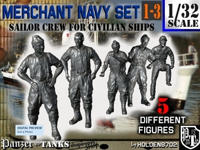 1-32 Merchant Navy Crew Set 1-3 in Frosted Ultra Detail