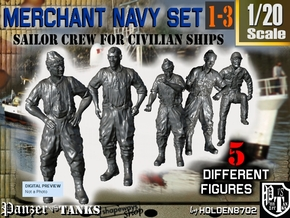 1-20 Merchant Navy Crew Set 1-3 in White Strong & Flexible