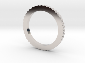 Ingranaggi Ring S/M 17mm in Rhodium Plated Brass