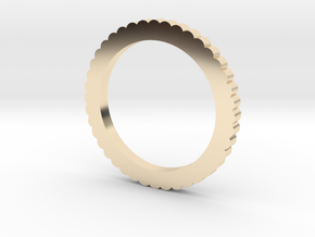 Ingranaggi Ring M/L 18mm in 14k Gold Plated Brass