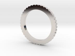 Ingranaggi Ring M/L 18mm in Rhodium Plated Brass